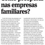 Como prosperar nas Empresas familiares? (Jornal do Commércio   Social 1)