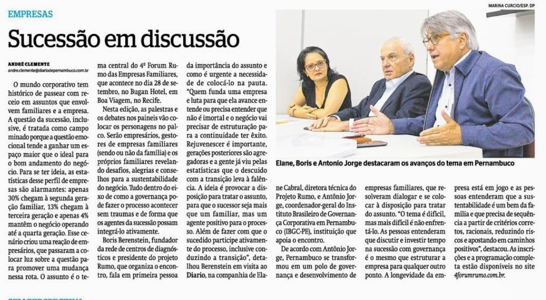 Sucessão em discussão (DP | Economia)