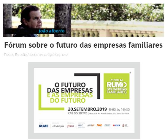 Fórum sobre o futuro das empresas familiares (Blog João Alberto)
