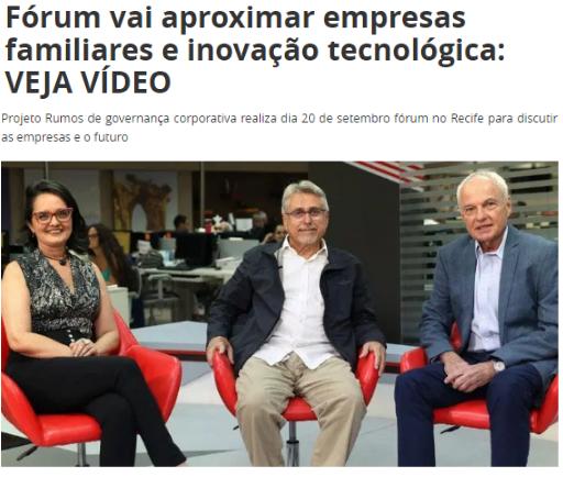 Fórum vai aproximar empresas familiares e inovação tecnológica (Polêmica Paraíba)