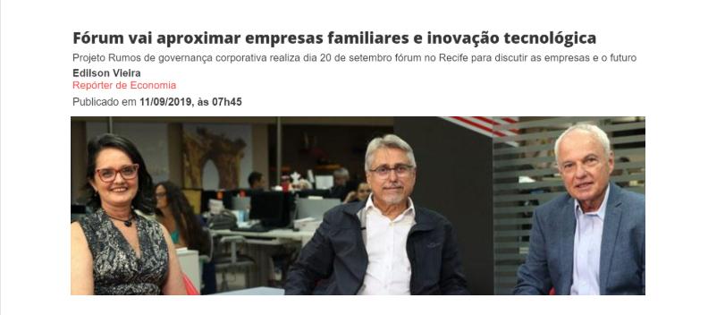 Fórum vai aproximar empresas familiares e inovação tecnológica (JC Online)