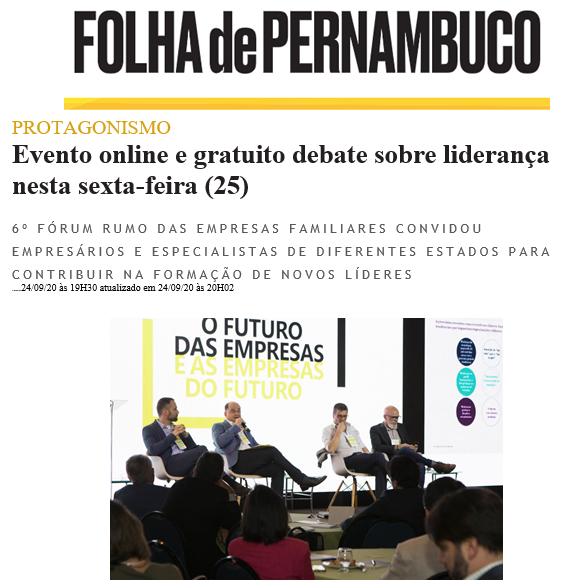 Evento online e gratuito debate sobre liderança nesta sexta-feira (Folha de PE)